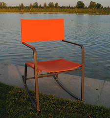 (hn.) Tags: park copyright orange lake germany munich mnchen bayern deutschland bavaria see chair heiconeumeyer europa europe chairs furniture eu mbel europeanunion stuhl muenchen sthle buga copyrighted stuehle buga2005 bundesgartenschau moebel