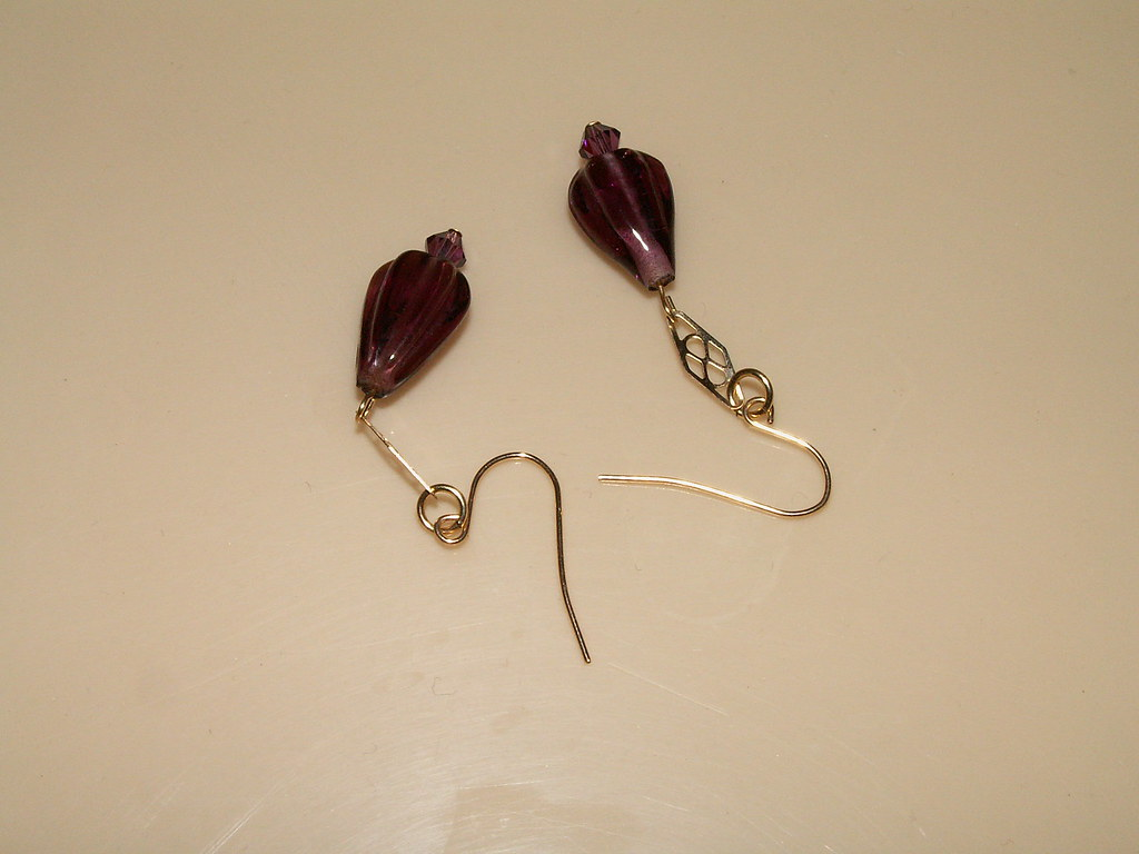 Gold-filled hook earrings