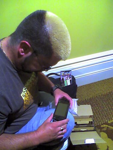 Shane liking his PSP..