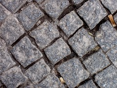 Paving (Auntie P) Tags: road wales pavement cymru cardiff ground cobble sidewalk lookdown caerdydd cobbles grounded