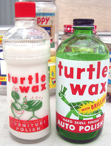 Turtle Wax Bottles, 1950's