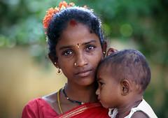 young mother (Arul Baskaran) Tags: portrait baby india madras mother chennai tamil tamilnadu