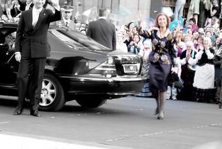 La llegada de la Familia Real