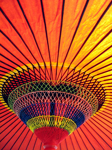 Colorful Japanese Umbrella by jasohill