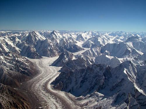 Alrededor de este punto se encuentran algunos de los picos más altos del mundo