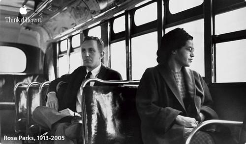Rosa Parks defies segregation on Alabama bus