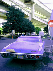 '68 Impala (Curtis Gregory Perry) Tags: auto blue usa abstract west bus cars chevrolet abandoned strange car goofy bike wheel azul trash america photoshop altered truck portland fun drive weird us moving bucket crazy garbage junk automobile gm colorful driving different ride unitedstates desert dorky state northwest good decay or debris wheels transport ruin engine superior tire automotive move best beaver vehicles chevy abandon american 200 rig transportation views stupid western whip excellent pacificnorthwest vehicle americans depressed trucks 1968 unusual autos blau damaged popular amerika 75 wacky distressed ore destroyed deserted bizarre automobiles blight dilapidated transpo exciting fuckedup abused crumbling junker pos trashed ruined forklift beater 68 oregonian unsettling caprice conveyance generalmotors junked convey rosecity cityofroses misused dinged slightlyoff dissimilar amerikan 75views portlander notalike beaverstate