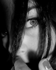 Justified Paranoia (chishikilauren) Tags: eye weirdshadows blackandwhite bw wow top20portrait topf25