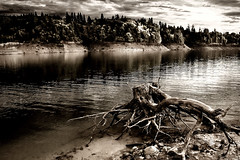 Atmospheric Drama (| HD |) Tags: old lake seascape 20d loss look sepia oregon creek canon landscape interestingness bravo atmosphere southern hd drama tension darwish hamad prospect atmospheric