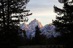 TETON EVENING (Dan Stuller) Tags: sunset mountain mountains nationalpark wyoming teton tetons grandteton grandtetonnationalpark