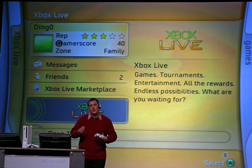 Xbox Live dashboard by niallkennedy.