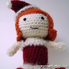 Holiday Ramona (Roxycraft) Tags: amigurumi softies plush mos crochet handmade