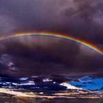 Rainbow over Corsica