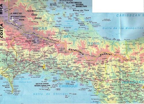 Panama Western Provinces Map