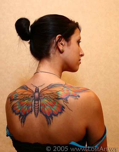 Colorful Butterfly Tattoo. Butterfly
