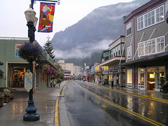 juneau alaska (lynne bernay-roman) Tags: city mountains fog alaska clouds reflections day juneau rainy