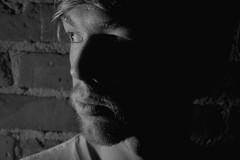 Colin 3 (.brian) Tags: colin handyman man portrait face blackandwhite person brick