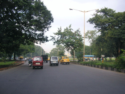 Kolkata road in Maidan area