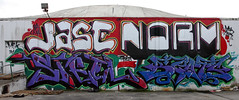 Jase, Norm, Steel, Beats (funkandjazz) Tags: sanfrancisco california graffiti steel awr msk ba beats norm jase cma