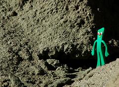 Gumby Leaves Mount Ararat (Worker101) Tags: gumby fsm flyingspaghettimonster toy green redeye glimmen spectator runners manly fotosafarisantos slate famliy winter macro desert cave california