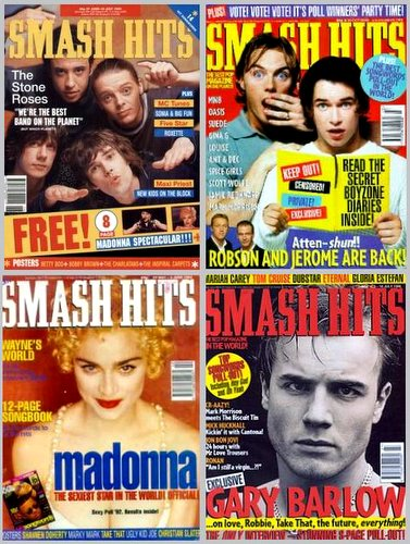 Smash Hits covers from the 90s