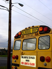 School Bus (Curtis Gregory Perry) Tags: auto school light red orange usa bus cars abandoned car bike wheel yellow america truck fun lights drive us moving washington bucket crazy streetlight automobile driving ride unitedstates state pacific northwest streetlamp united wheels transport move vehicles amarillo gelb american rig transportation whip pacificnorthwest vehicle americans wa ghosttown trucks states vader autos schoolbus amerika automobiles transpo exciting unsettling conveyance evergreenstate unlawful convey amerikan