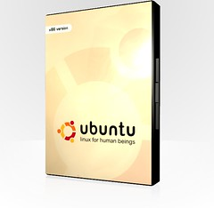 Ubuntu DVD Case Render
