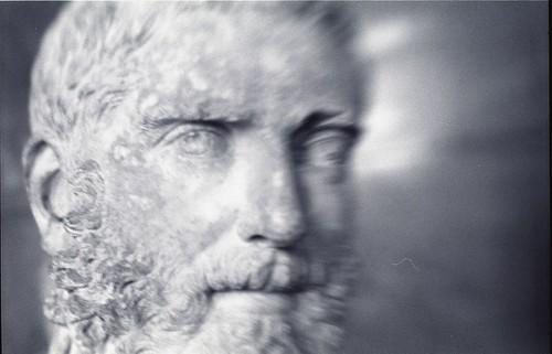 Greek bust of man with beard