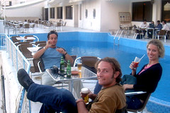 Me with the two Toni's (followben) Tags: morocco tony toni me chouen hotel
