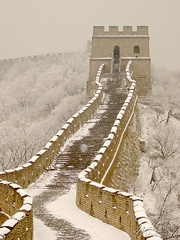 Great Wall of China (Dec 2004) (Steve Webel) Tags: greatwall china chinese beijing travel winter snow webel  zhongguo  mutianyu