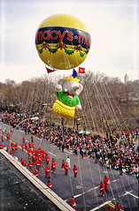 Babar Balloon at the Macy's Parade (1988) (musicmuse_ca) Tags: thanksgiving street newyorkcity red holiday yellow topv111 510fav wonder centralpark manhattan 1988 balloon parade fengshui ongrey babar thanksgivingparade sr125 happythanksgiving gigantism macysthanksgivingparade balloonatics