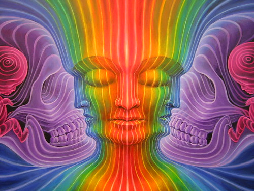 Alex Grey painting at Synergenesis I | Flickr - Photo Sharing!