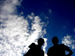 Best friends (Luke Sharrett) Tags: fortworth texas sky cloud clouds silhouette sneed stackpole blue