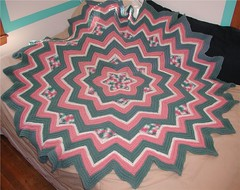 SIX POINT STAR AFGHAN PATTERN - CLOTHES PATTERNS