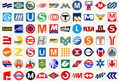 Subway Logos From Around the World by Annie Mole.