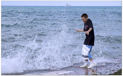 Splasher in Lake Michigan