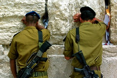 Soldiers at the Wailing Wall - by Flickmor