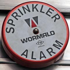 sprinkler alarm bell (Leo Reynolds) Tags: squaredcircle sqlondon alarm alarmbell bell alarmsprinkler sqrandom sqset007 canon eos 350d 0006sec f56 iso100 135mm 0ev xleol30x hpexif xratio1x1x xsquarex xx2006xx