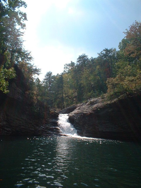 Lula lake and smaller waterfall, Lookout Mountain