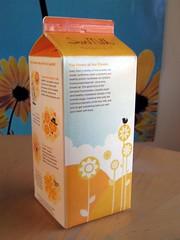 Sun Milk carton (back) (kidicarus222) Tags: sunmilk advertising packaging commerical food milk carton milkcarton sun sunflower cartoon cute