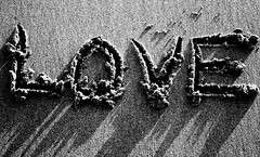 Got Love? (My Little Monkey) Tags: love sand bw words emotion beautiful confusing overwhelming ineedtogotobed