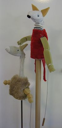 image of recycled puppets, bottles and socks