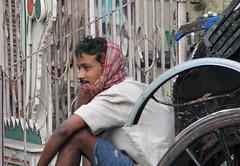 Rickshaw - Calcutta (Eric.Parker) Tags: street india man flower rickshaw bengal calcutta kolkatta westbengal dec18 golpark rmic wbtotal