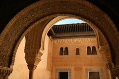 Palace of the Nazaries (acastellano) Tags: topv111 architecture andalucía spain topv333 europe arches palace unesco doorway alhambra moorish granada worldheritage palaciosnazaries casasreales