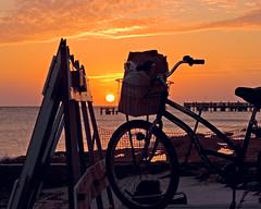 Park n Watch (key lime pie yumyum) Tags: sunset sea orange beach bicycle delete5 delete2 pier delete6 delete7 save3 delete8 delete3 save7 save8 delete delete4 save save2 save9 save4 save5 save10 keywest save6 savedbythedeltemeuncensoredgroup