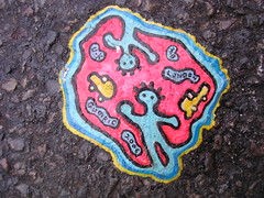 Ben's chewing gum art - DSCN4058 (rahid1) Tags: road streetart macro london gum graffiti drawing pavement chewinggum graff haringey muswell muswellhill chewinggumman coolpix3100 benschewinggumart benwilson gumpic