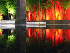 yes...  but no tripods (pbo31) Tags: sanfrancisco california street city longexposure red urban sculpture reflection building green art public water northerncalifornia speed garden design pond downtown chinatown view famous tripod citylife favorites bamboo illuminated ne