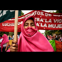 women in action ( Tatiana Cardeal) Tags: pink portrait people digital photo topf50 women venezuela protest interestingness1 picture photojournalism documentary social 2006 womenonly caracas violence superfantastique invenciblespirit tatianacardeal humanrights gender ong ngo worldsocialforum socialchange documentaire documentario direitoshumanos socialmovement openingmarch forosocialmundial  frumsocialmundial wsfwomen    wereldsociaalforum    brasileconomico