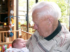 New born baby Abel and opa (97) (proudof7) Tags: family baby familie generations abel overgrootvader generaties oudenjong bijna100 oldisbeautiful almost100