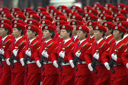 north korean women marching. Marching women